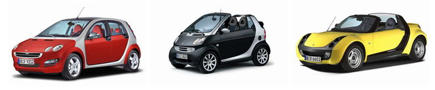 smart forfour fortwo cabrio roadster